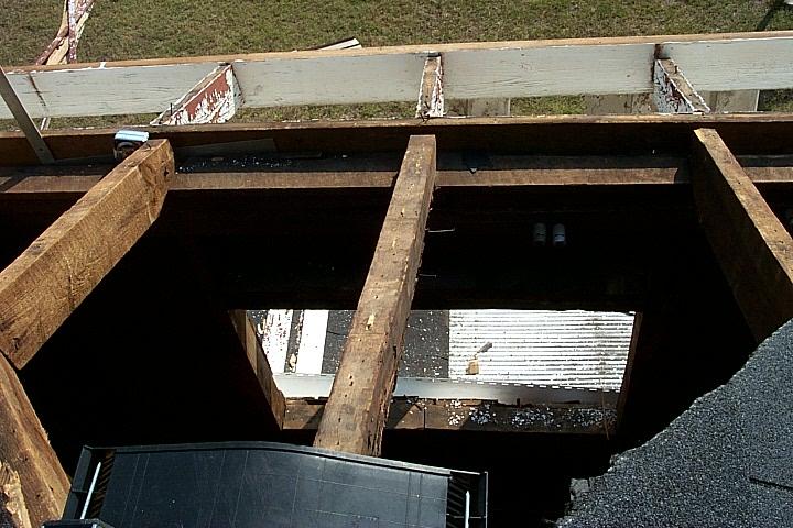 Garage Roof Sagging Amp Reinforcing Roof Over Existing Garage